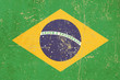 flag of brasil grunge