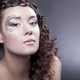 Make-up with elements of face-art