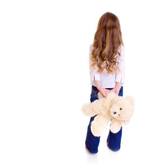 Young girl with bear