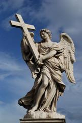Engel mit Kreuz Engelsbrücke Tiber Rom Brücke