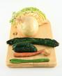 Spoiled veggies end view