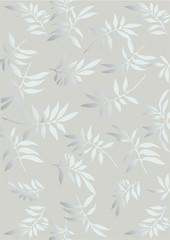 Silver  floral  frame (vector)