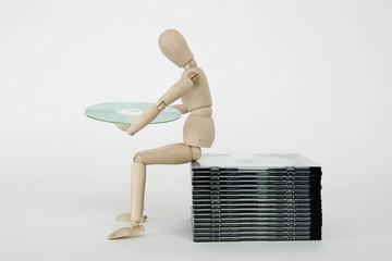 Gliederpuppe mit CD