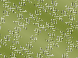 Seamless oriental pattern in grassy colors rotated