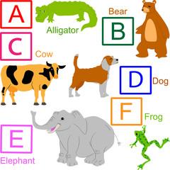 Animal alphabet, part 1 of 4