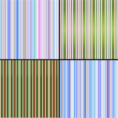 Four vector backgrounds from multi-coloured vertical strips