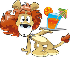 Lion with  Orange Juice