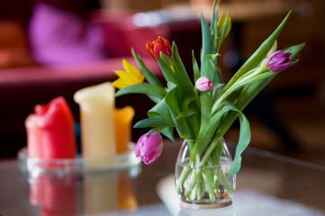 tulips in interior
