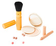 Set of cosmetics and make-up tools isolated