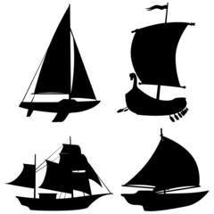 Barche sagome-Bateau vecto-Boat shapes