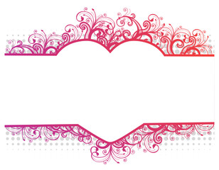 Illustration of a floral border with heart
