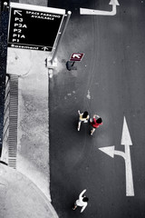 follow the direction, copyspace on billboard
