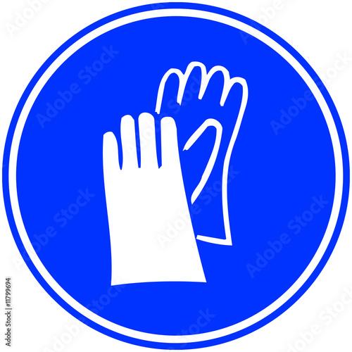 Panneau port de gants obligatoire photo libre de droits - Tout a l egout obligatoire ...