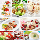 Gourmet food collage