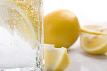 soda water and lemon