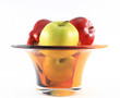 Apple bowl side view