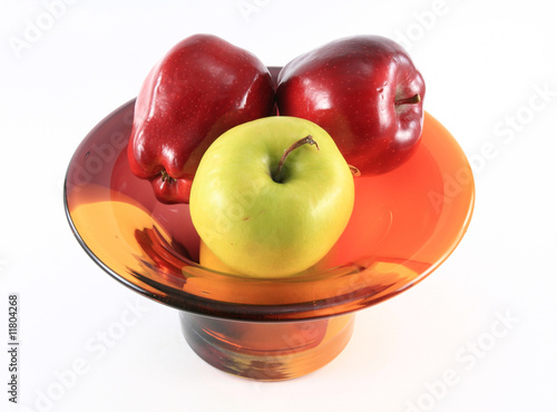 Apple bowl top view