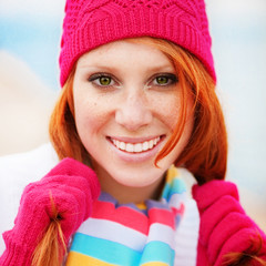 Cute winter woman