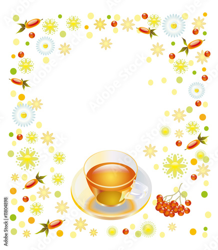 Cup with vitamin drink
