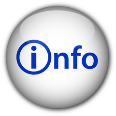"""info"" Glassy Button with Symbol (white/blue)"