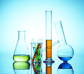 chemistry laboratory equipment, test tubes