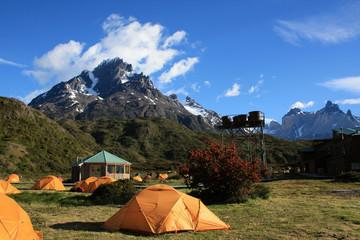 Camping à Paine Grande