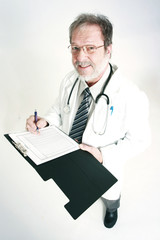 Doctor having a look on notes