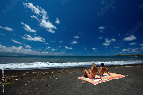 Black Sand Beach Tahiti