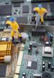 Detaily fotografie počítačových dílů opravy
