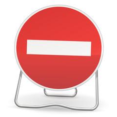 Sens interdit à tout véhicule (ombre)