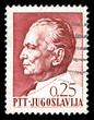vintage stamp depicting the Yugoslav Dictator Josip Tito