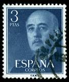 vintage stamp depicting the dictator General Francisco franco