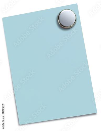 magnet pin mit blauem zettel von j rg launer lizenzfreies. Black Bedroom Furniture Sets. Home Design Ideas