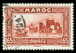 vintage Morocco stamp depicting the Capital city of Rabat