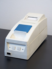White printer for fiscal cash register