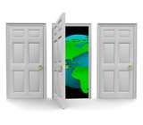 Choose the Door to a World of Opportunity poster