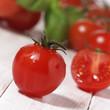 Tomate closeup Anschnitt