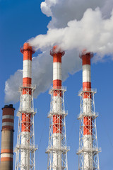 Power plant fumes