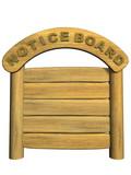 3d wooden signboard poster