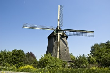 Dutch traditional windmill