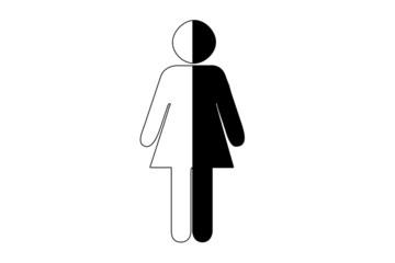 Pictogramme femme noire blanche