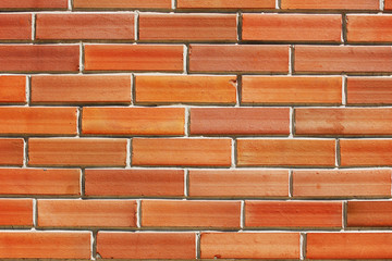 Fragment of modern red brick wall