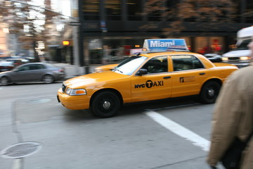 Taxi in New York City, Manhattan, Soho