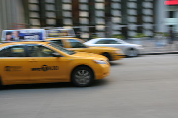 Taxi in New York City, Manhattan, Fifth Avenue