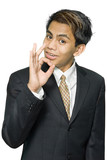 Indian businessman OK sign