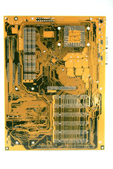 Mother Board backside showing circuits