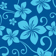roleta: Seamless Navy Blue Plumeria Pattern