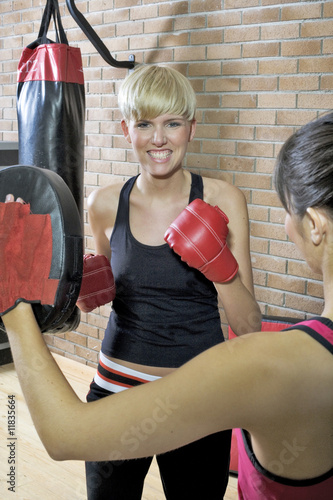 boxing in the gym
