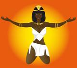 erotic beautiful girl priestess of Egypt poster