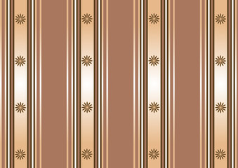 Striped decorative background in coffee tones (vector)